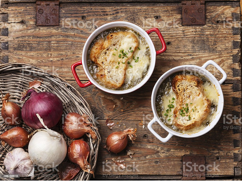 Onion soup royalty-free stock photo