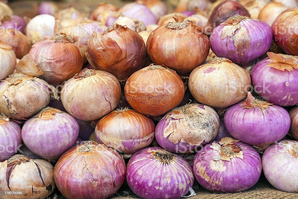 onions at the market royalty-free stock photo