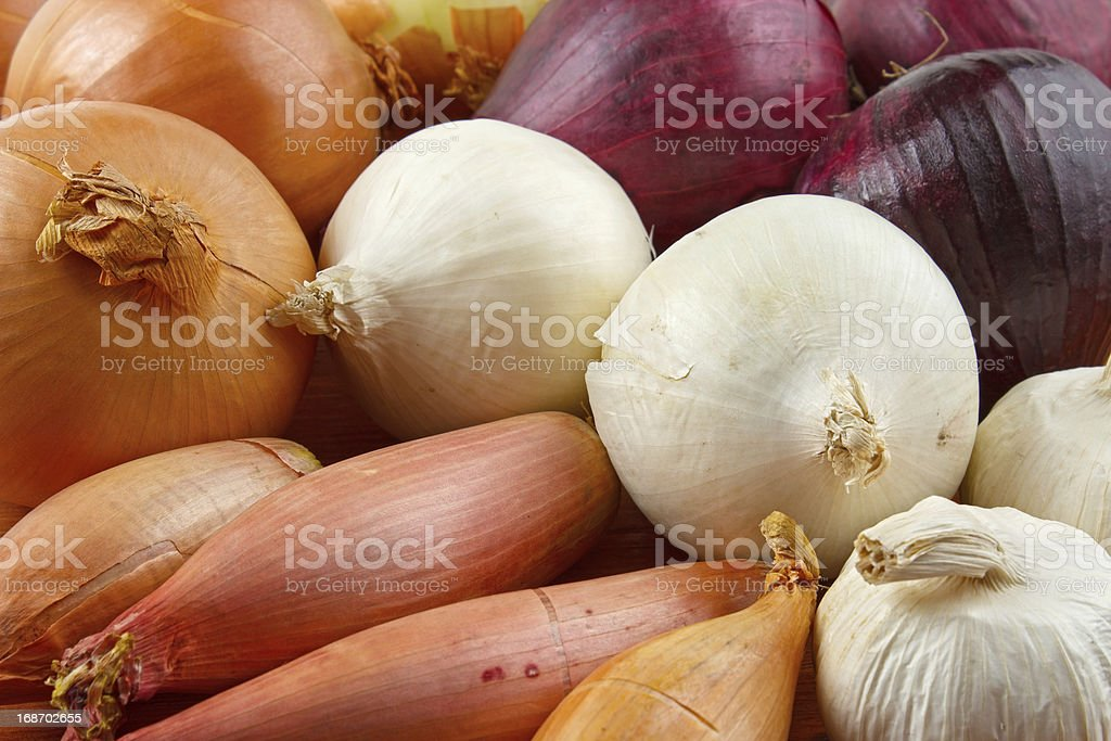 Onions background royalty-free stock photo
