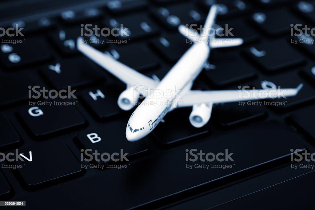 Online airline  ticket stock photo