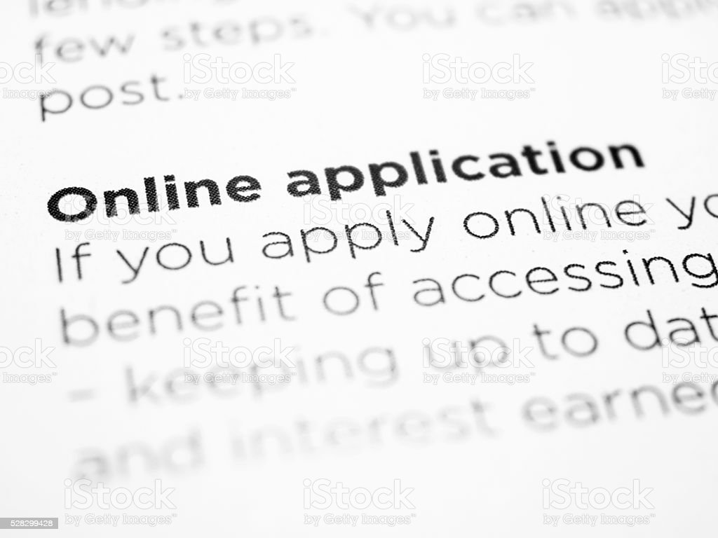 online application stock photo