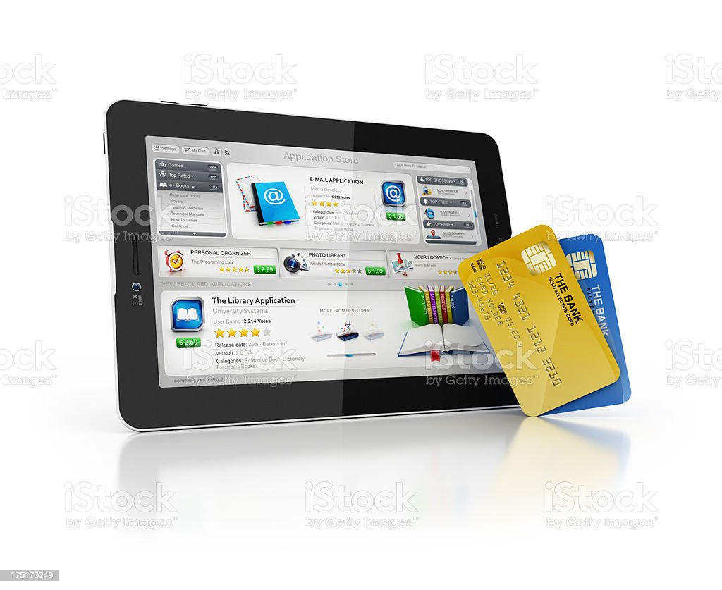 online Application Store with card royalty-free stock photo