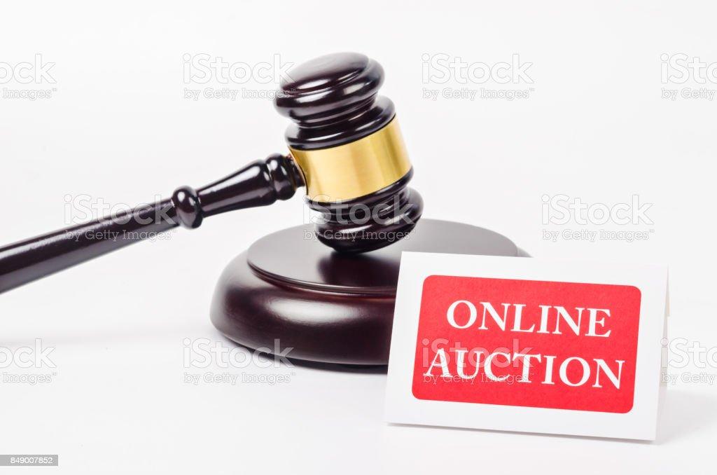Online auction concept stock photo