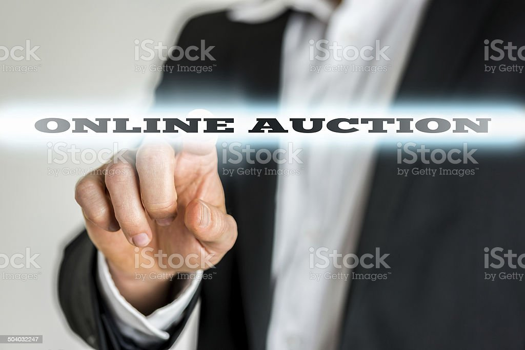 Online auction stock photo