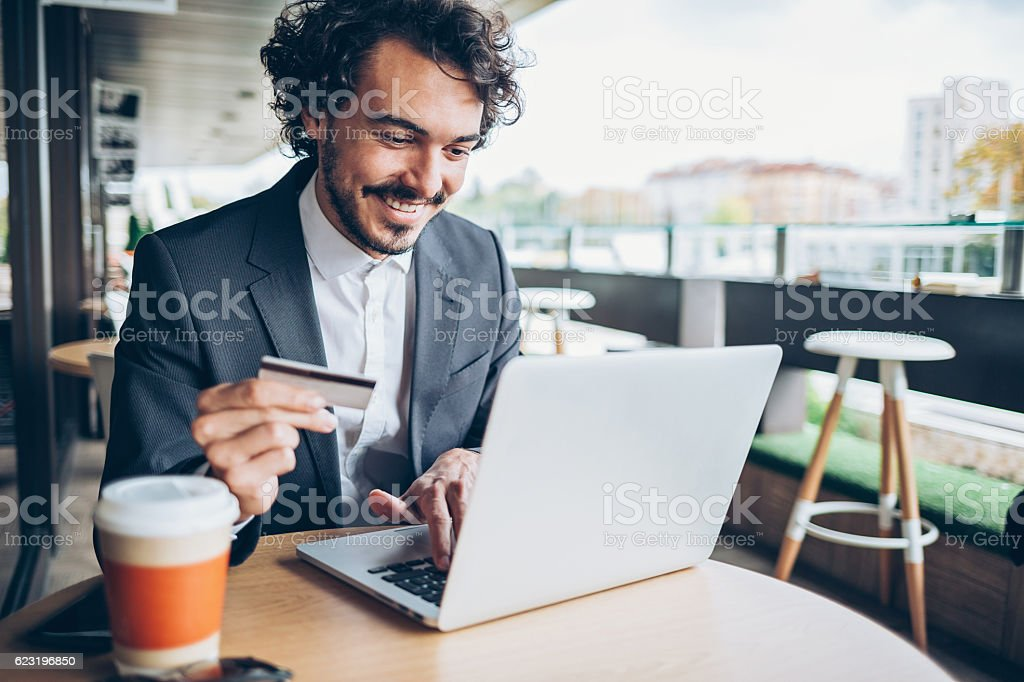 On-line banking stock photo