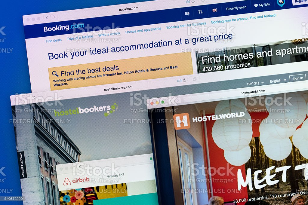 online booking stock photo
