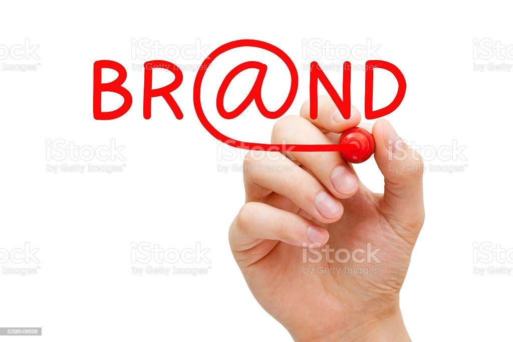 Online Brand Concept stock photo