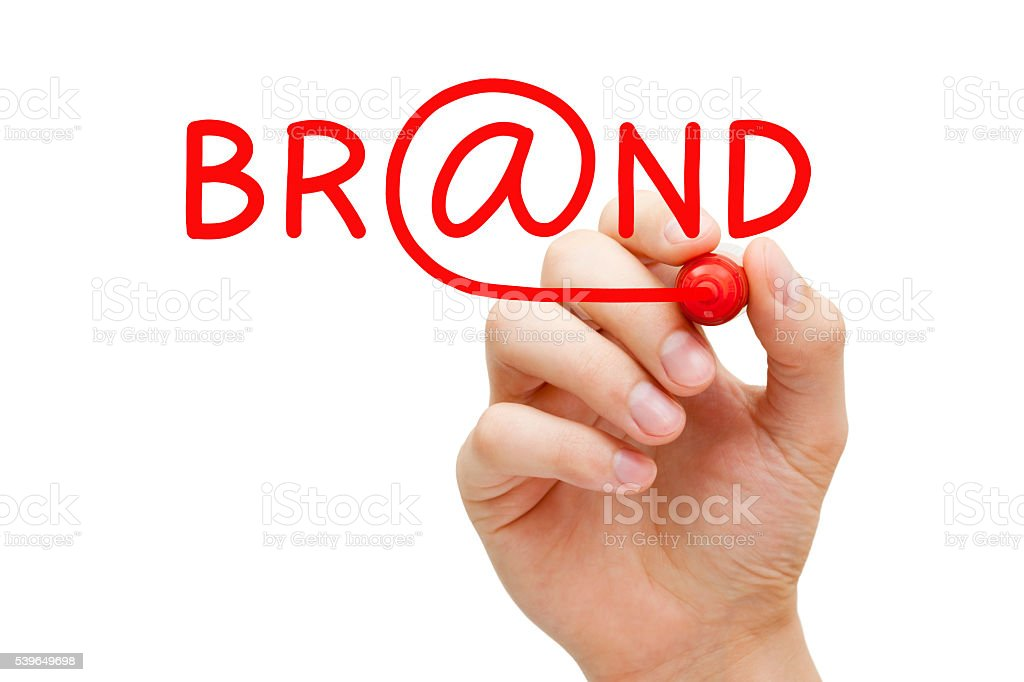 Online Brand Concept stock photo
