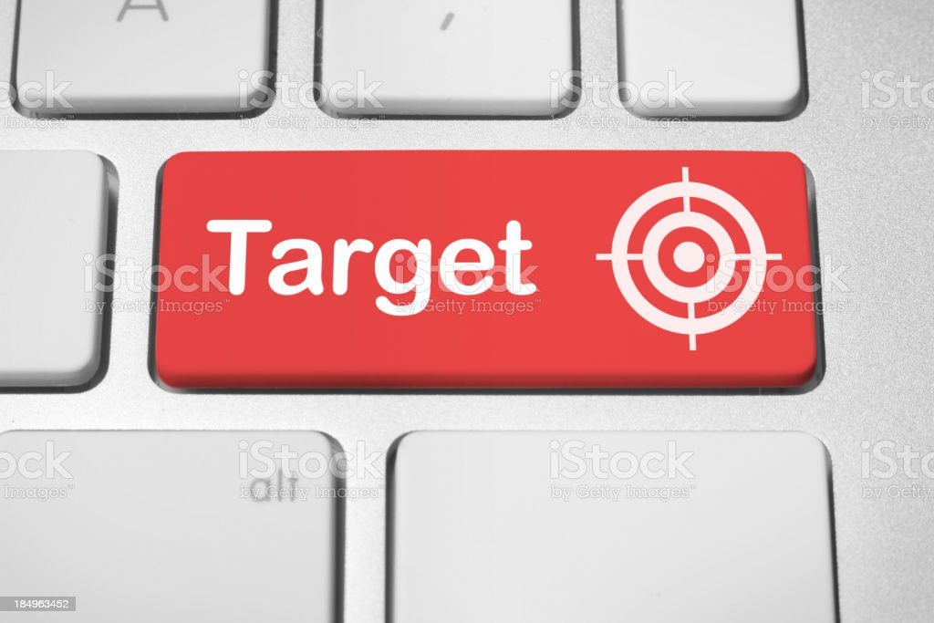 Online business target stock photo