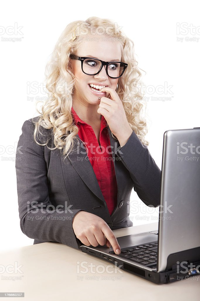 on-line chatting royalty-free stock photo