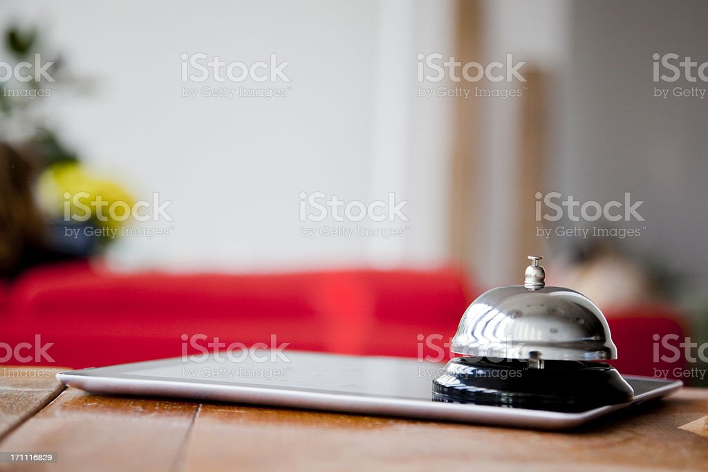 Online check in stock photo