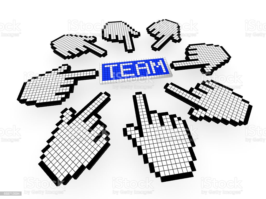 Online collaboration concept stock photo