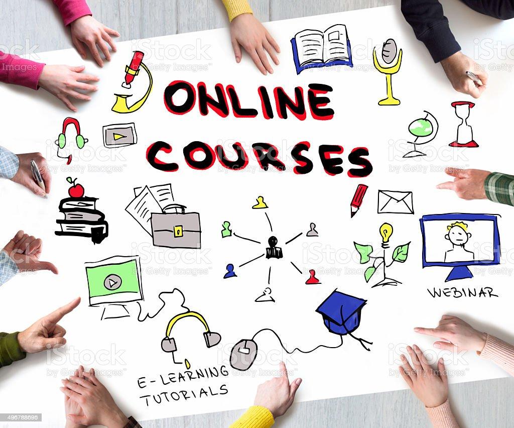Online Courses concept stock photo