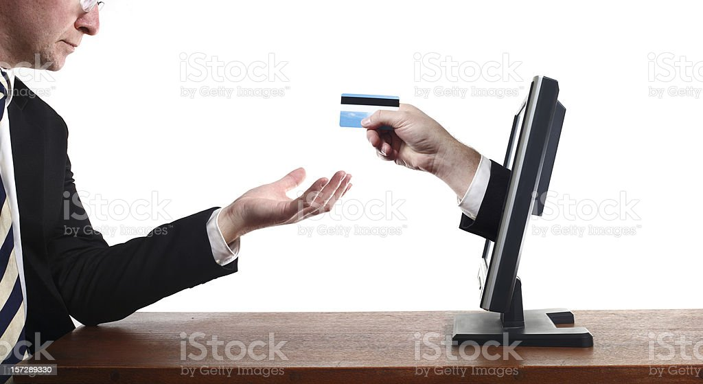 Online Credit royalty-free stock photo