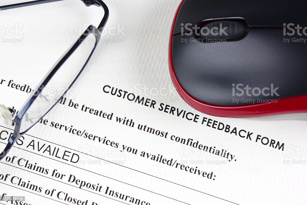 Online Customer Service Feedback Form Stock Photo   Istock