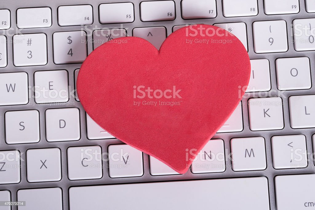 Online dating concept stock photo