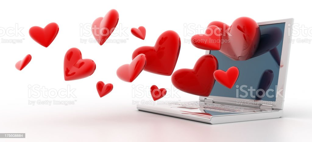 Online dating stock photo