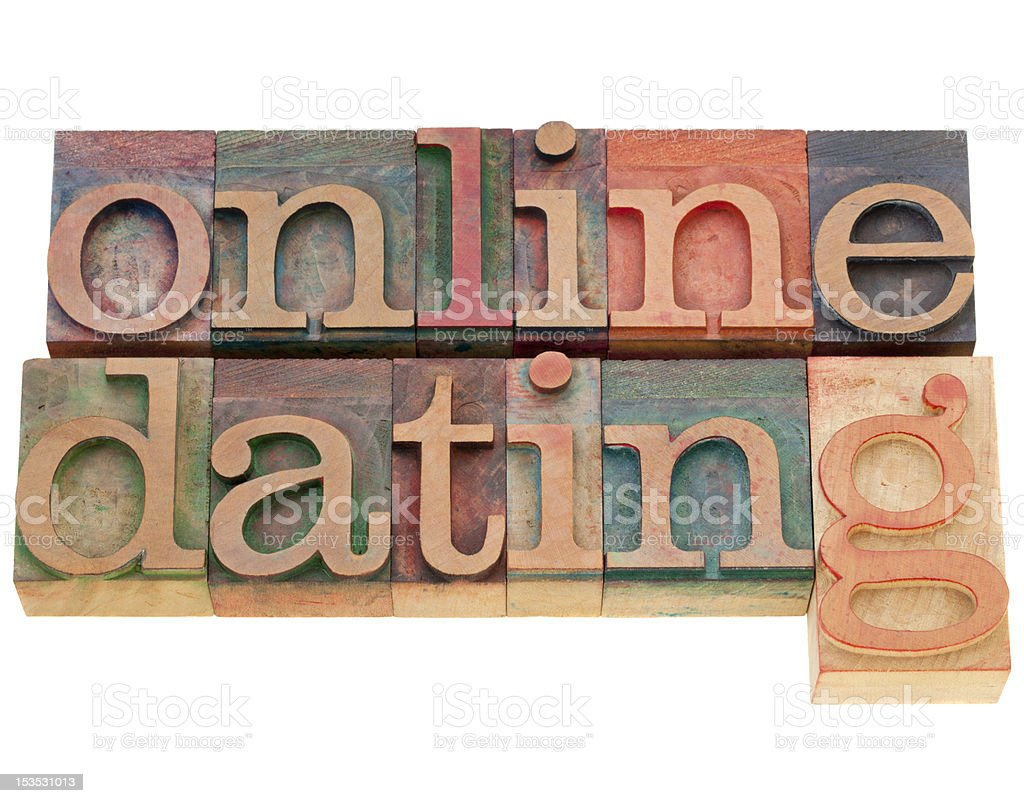 online dating text stock photo