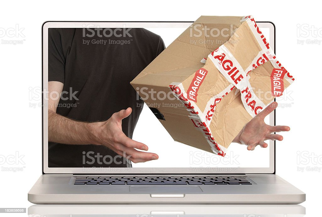 Online delivery royalty-free stock photo
