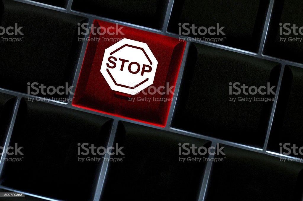 Online denial service concept stock photo