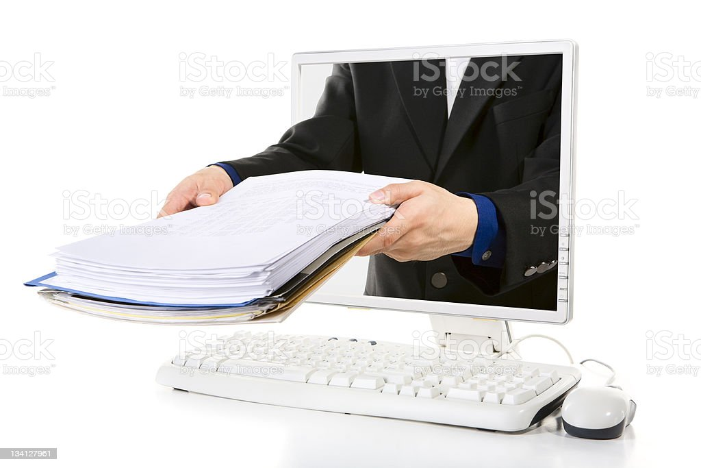 Online document royalty-free stock photo