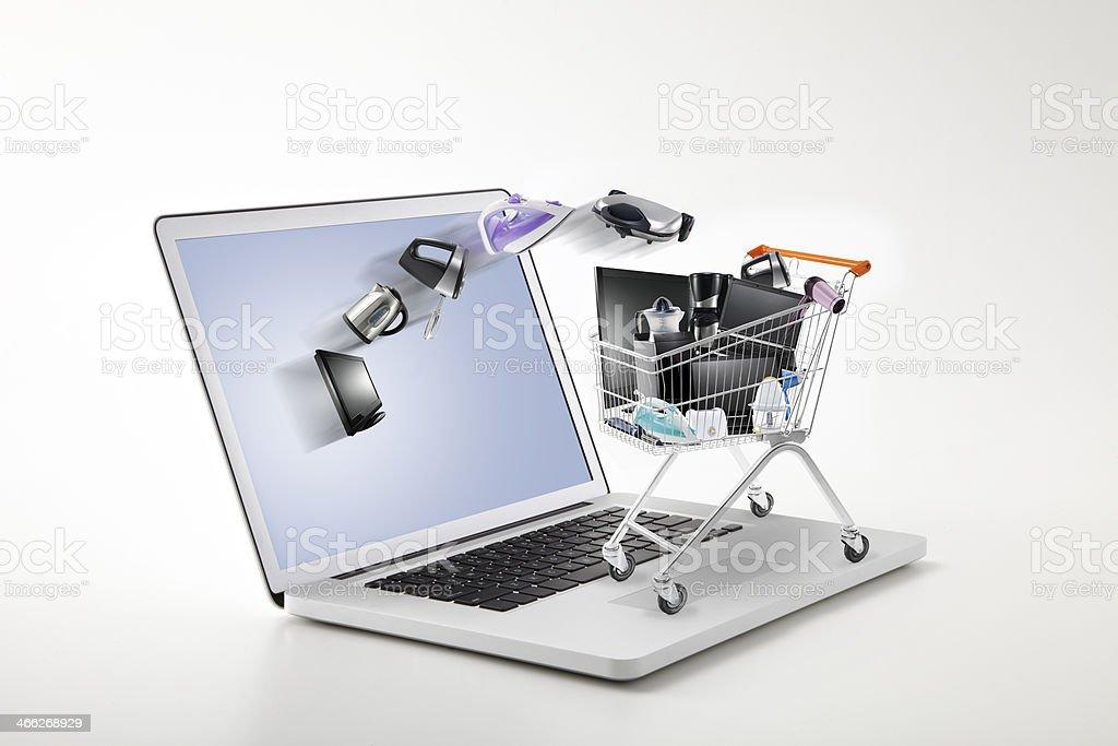 online electronics shopping stock photo