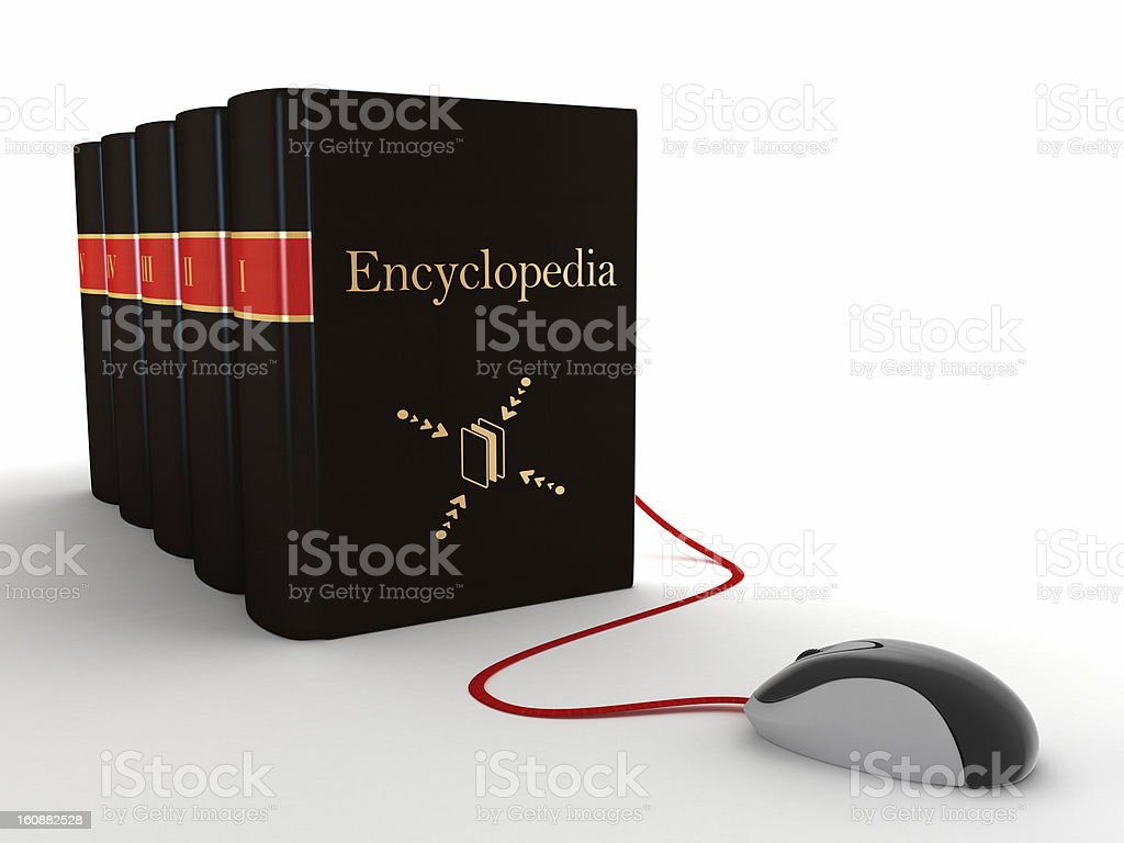 Online encyclopedia stock photo
