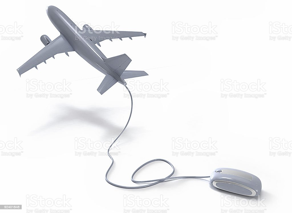 Online flight booking royalty-free stock photo