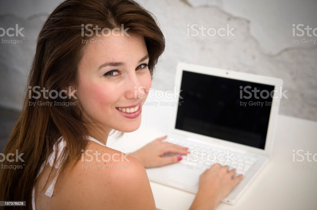 Online fun royalty-free stock photo