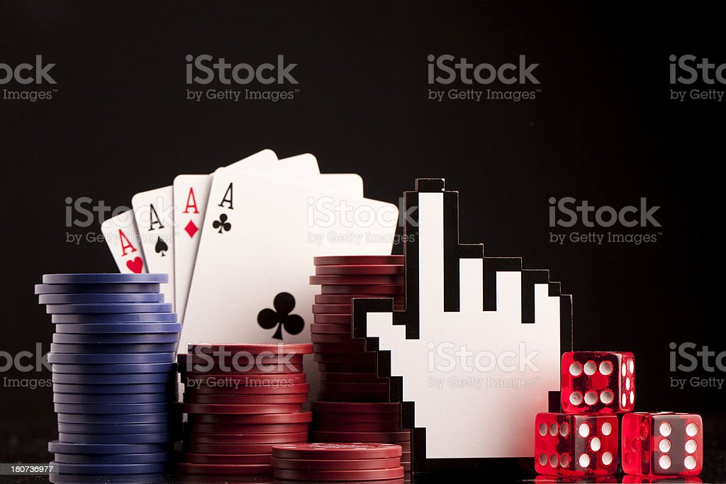 Online Gambling background stock photo