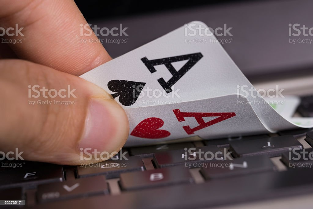 Online gambling concept stock photo