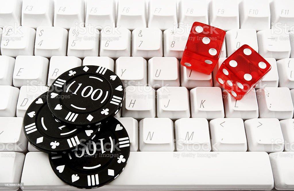 Online gambling royalty-free stock photo