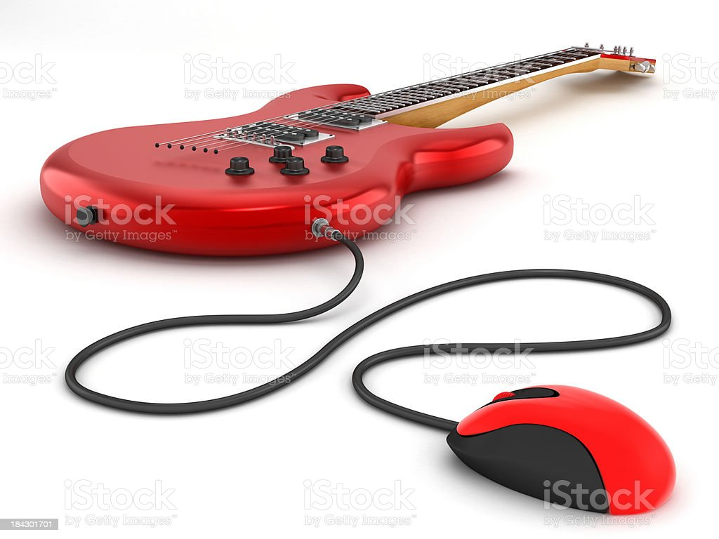 Online guitar lessons royalty-free stock photo