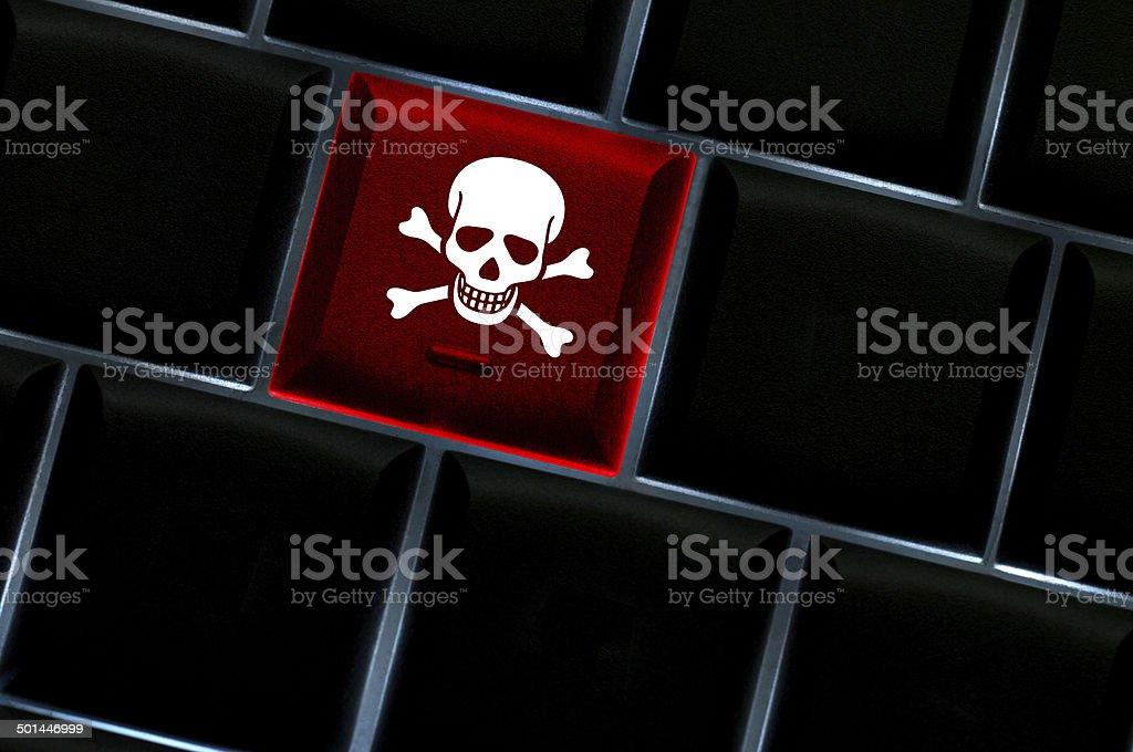 Online hack concept stock photo