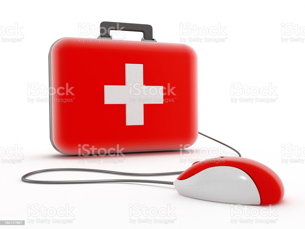 Online health services royalty-free stock photo
