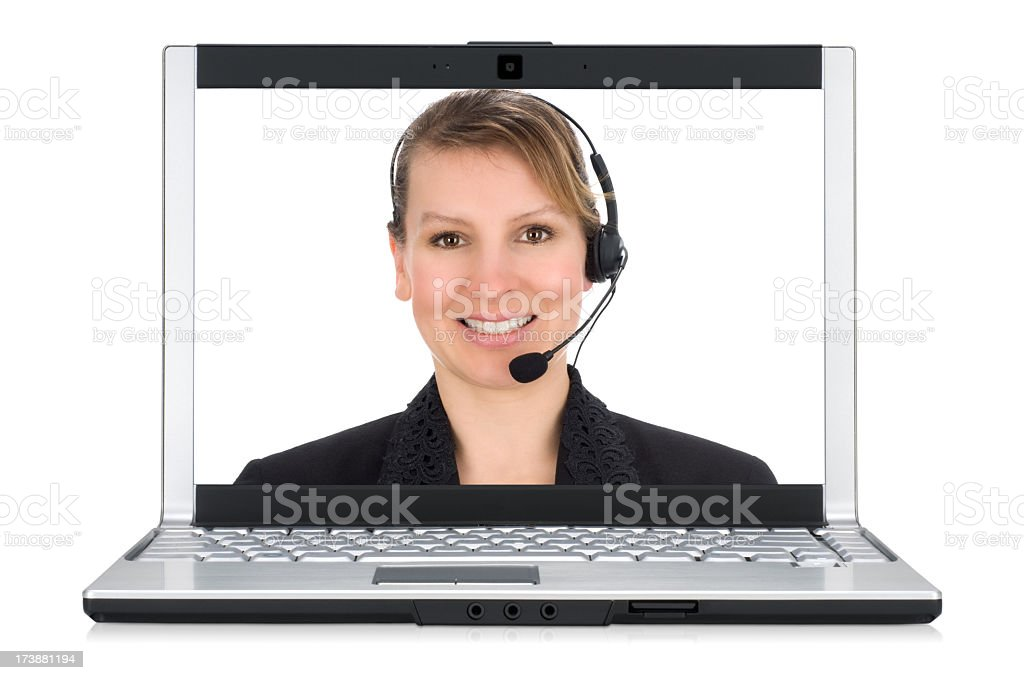 Online Help - Customer Service Representative royalty-free stock photo