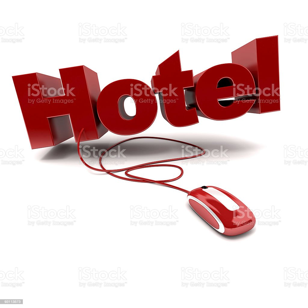 Online Hotel royalty-free stock photo