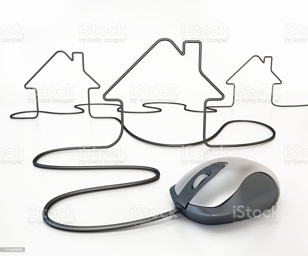 Online house shopping royalty-free stock photo