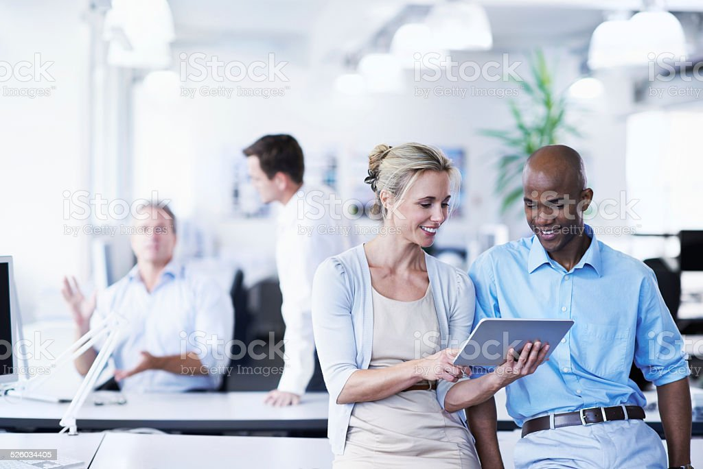 Online in today's business world stock photo