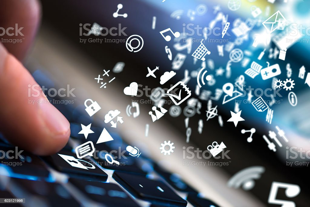 Online information security stock photo
