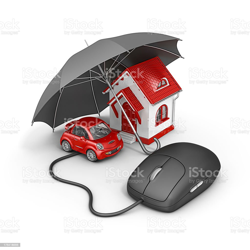 online insurance royalty-free stock photo
