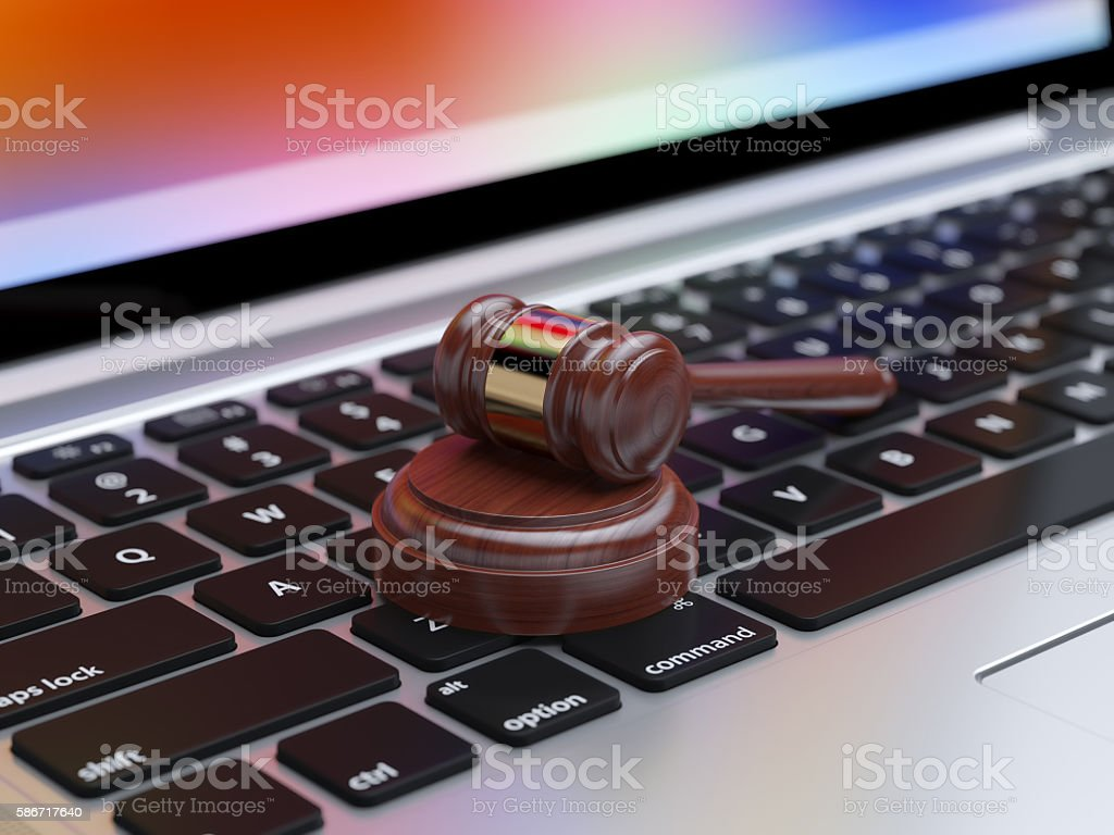 Online internet auction stock photo