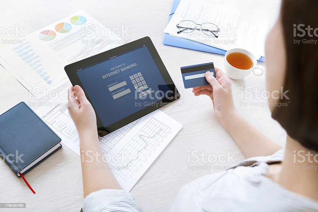 Online internet banking stock photo