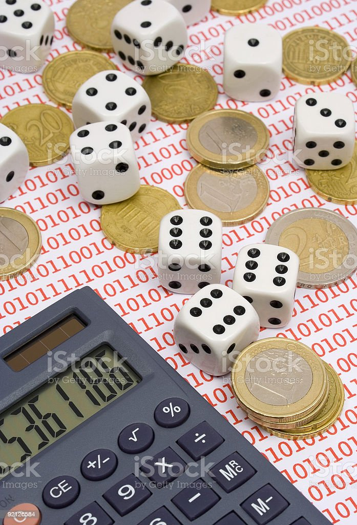 Online investment risk royalty-free stock photo