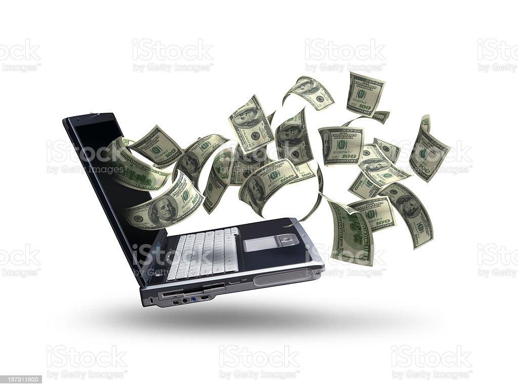 Online Jackpot royalty-free stock photo