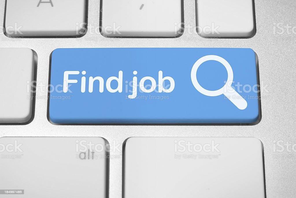 Online job finder button stock photo