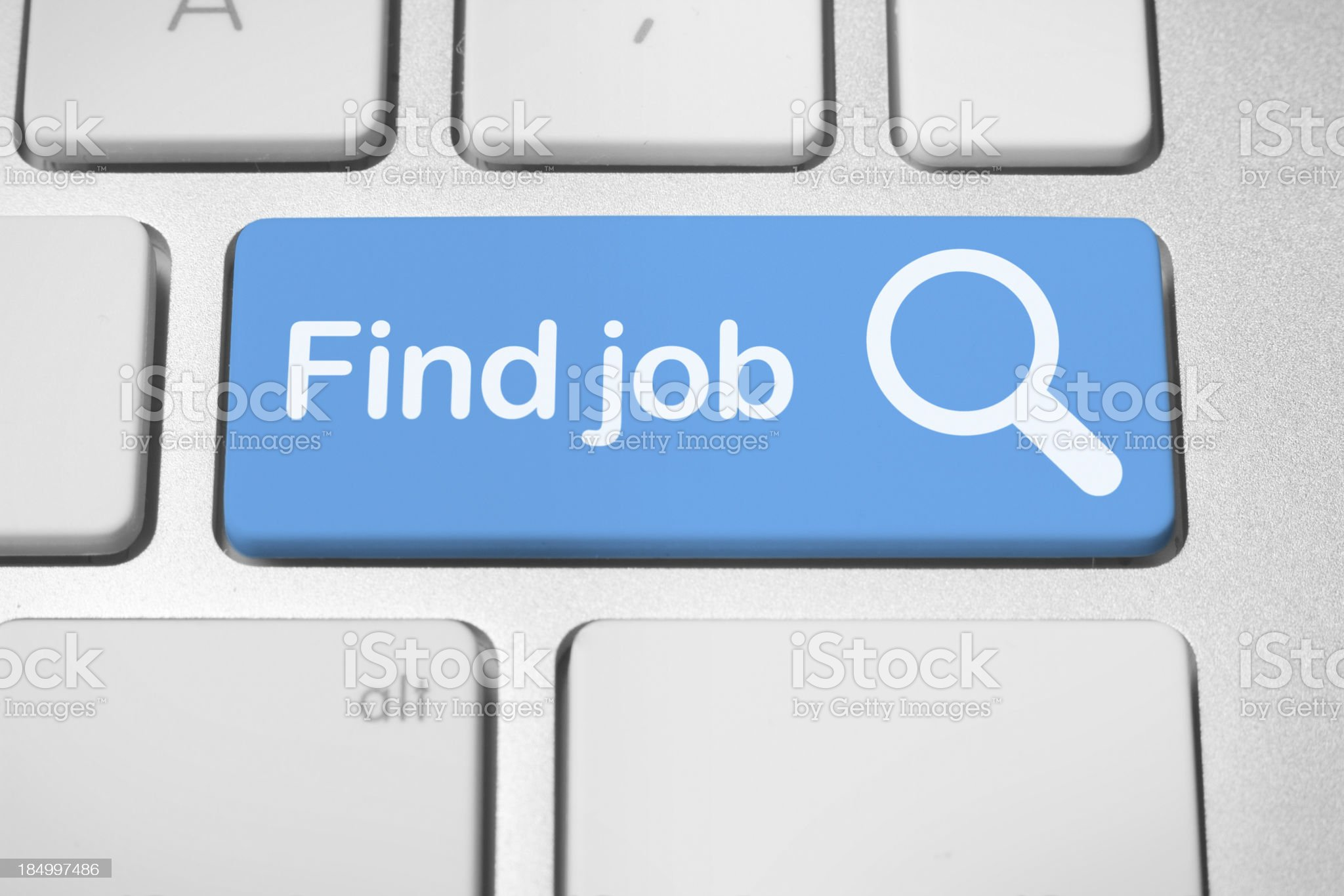 Online job finder button royalty-free stock photo