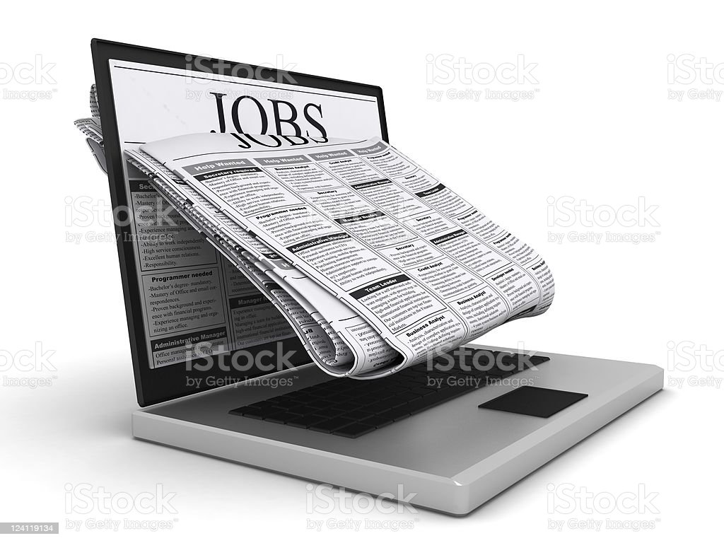 Online Job Search royalty-free stock photo