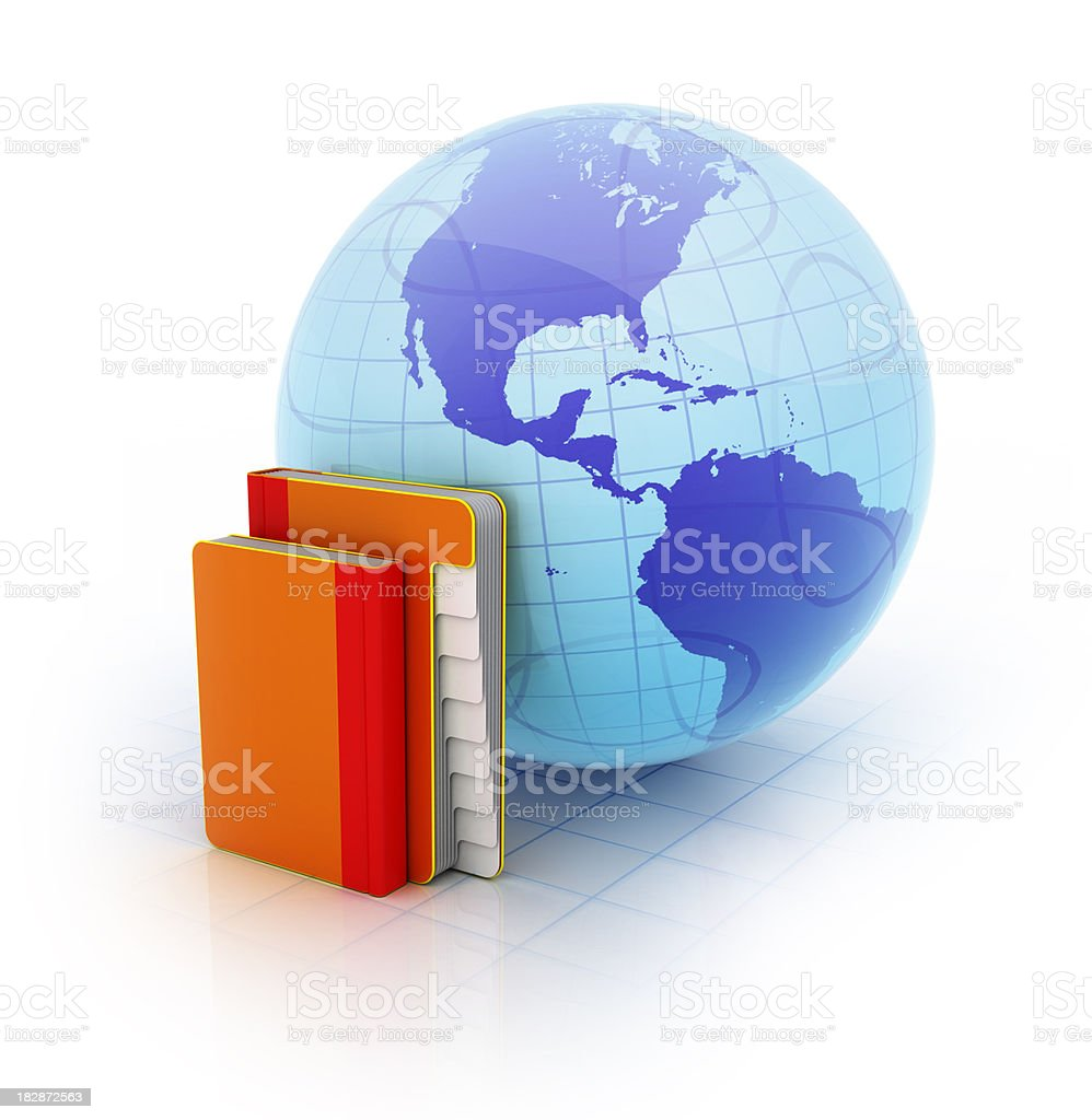 online library & e-learning stock photo