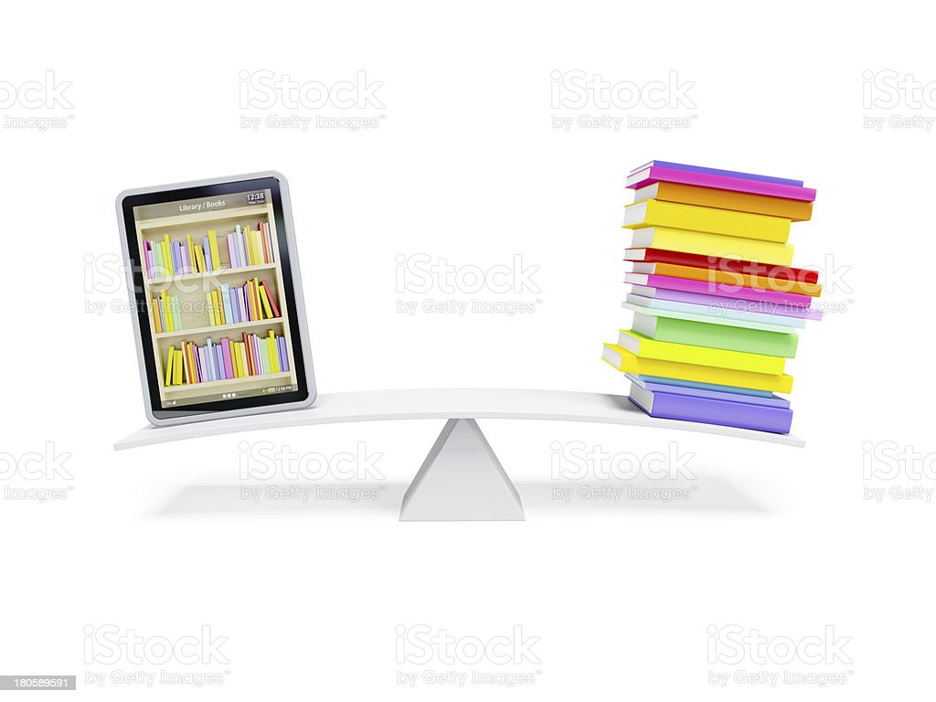 online library in the tablet royalty-free stock photo